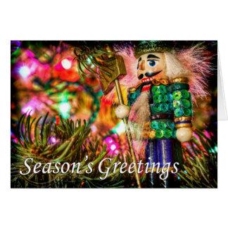 くるみ割りの季節の挨拶 カード