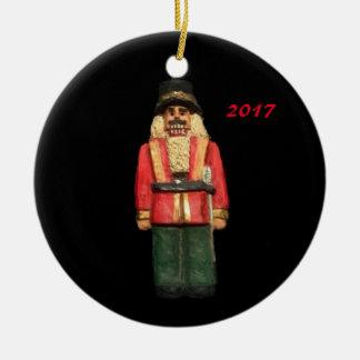 くるみ割りの2017年のクリスマスのコレクターのオーナメント セラミックオーナメント