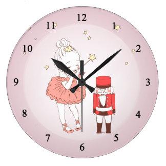 くるみ割り人形 ラージ壁時計
