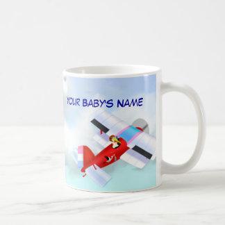 こうのとりの平らなマグ コーヒーマグカップ
