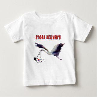 こうのとり配達! ベビーTシャツ