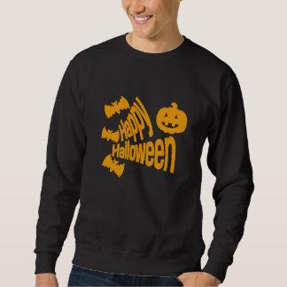 こうもりおよびカボチャハッピーハローウィン スウェットシャツ