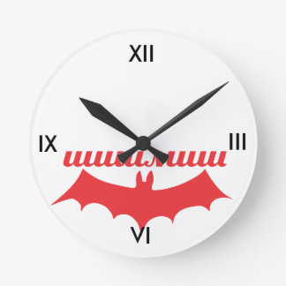 こうもりのシリル ラウンド壁時計