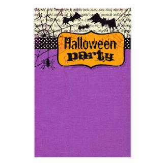 こうもりのハロウィンの気味悪い文房具 便箋