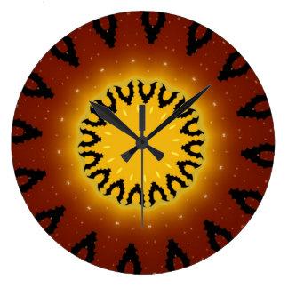 こうもりの万華鏡のように千変万化するパターンの柱時計 ラージ壁時計