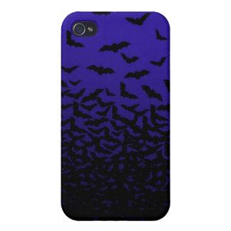 こうもりの箱のiPhone 4の群(紫色) iPhone 4/4S Case