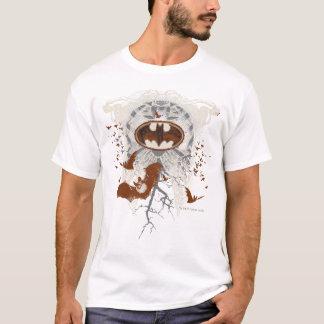 こうもりの記号のRibcageのヴィンテージのコラージュ Tシャツ