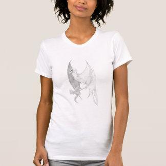 こうもり飛んだハゲタカのTシャツ Tシャツ