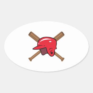 こうもり|ヘルメット 卵形シール・ステッカー