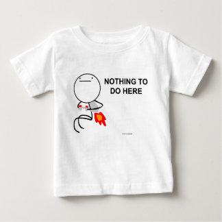 ここにすることを何も ベビーTシャツ