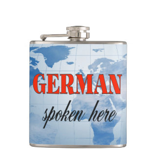 ここにドイツ語によって話される曇った地球 フラスク
