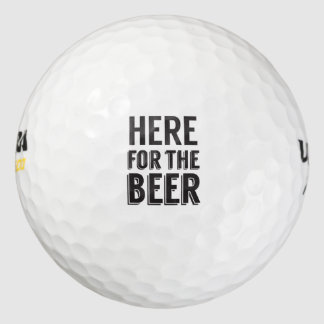 ここにビールおもしろいなビール発言のために ゴルフボール