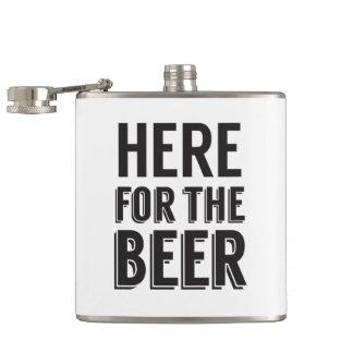 ここにビールおもしろいなビール発言のために フラスク