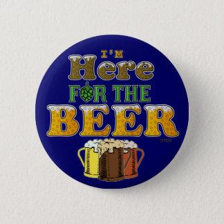 ここにビールのためにおもしろい 5.7CM 丸型バッジ