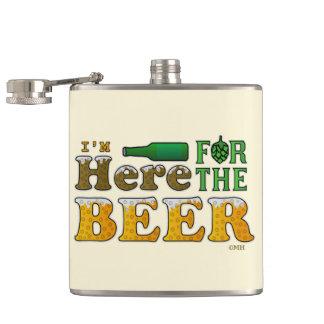 ここにビール2のためにおもしろい フラスク