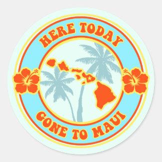 ここにマウイハワイに今日行って ラウンドシール