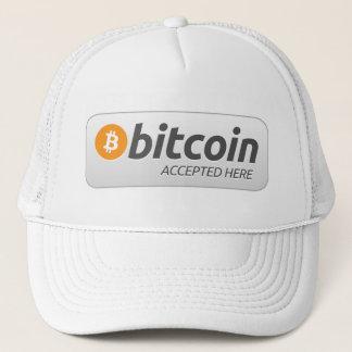 ここに受け入れられるBitcoin - キャップ