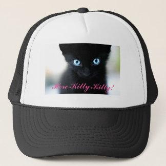 ここに子猫の子猫のトラック運転手の帽子 キャップ