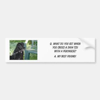 ここのあなたの写真! 親友のシーズー(犬)のTzuの私の組合せ バンパーステッカー