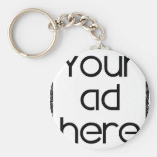 ここのあなたの広告 ベーシック丸型缶キーホルダー