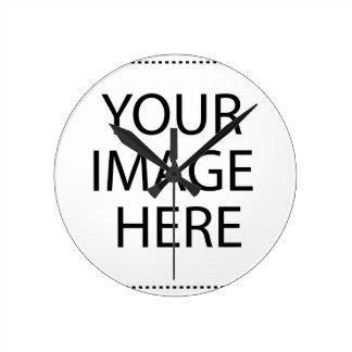 ここのイメージの文字のロゴをしますあなた自身のクールなデザインを加えて下さい ラウンド壁時計