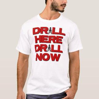 ここのドリルは今あきます Tシャツ