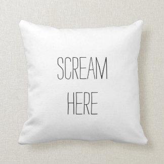 ここの叫びのおもしろいな枕 クッション
