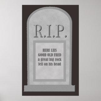 ここの裂け目ハロウィンはポスターフレッドの墓碑あります ポスター