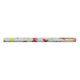 こっけいでおもしろいな口論猫のアジア人の絵 鉛筆