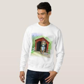 こっけいなサンディの入り江の屋根付橋の犬小屋 スウェットシャツ
