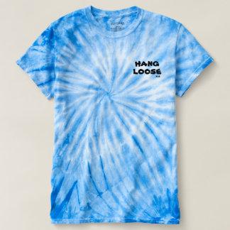 こつの緩い絞り染めのティー Tシャツ