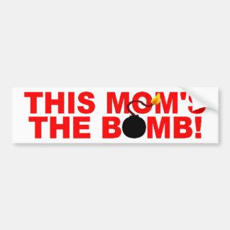 このお母さんの爆弾!  バンパーステッカー