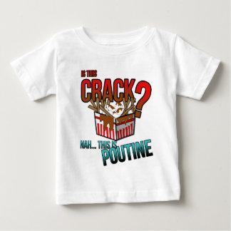このひびはありますか。 Nahそれはpoutineです! ベビーTシャツ