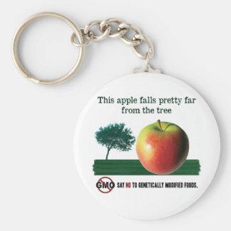 このりんごはずっと木からかわいらしい落ちます。 GMO無し キーホルダー