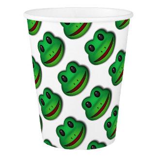 このカエルのデザインを点検するホツプ 紙コップ
