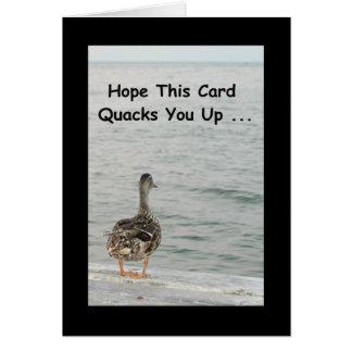 このカードにせ医者を望んで下さい! 健康なカードを得て下さい グリーティングカード