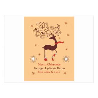 このクリスマスのための名前入りな挨拶状 ポストカード