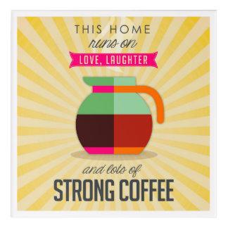 このコーヒーの愛笑い声そして多くでホームラン アクリルウォールアート