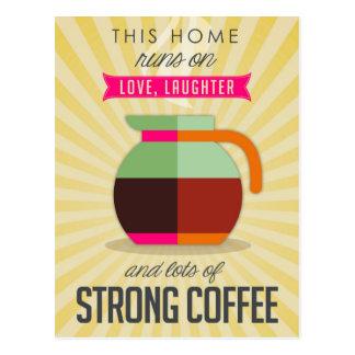 このコーヒーの愛笑い声そして多くでホームラン ポストカード