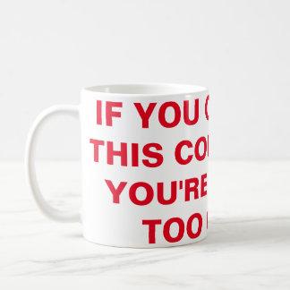 このコーヒー・マグを読むことができれば コーヒーマグカップ