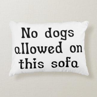 このソファーで許可される犬無し アクセントクッション