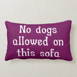 このソファーで許可される犬無し ランバークッション