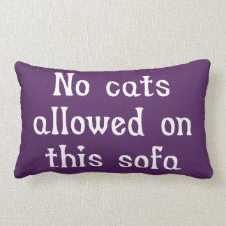 このソファーで許可される猫無し ランバークッション