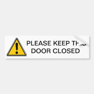 このドアを閉めておいて下さい バンパーステッカー