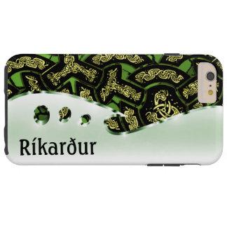 このドラゴンの鎖の緑およびクロムのあなたの名前 TOUGH iPhone 6 PLUS ケース
