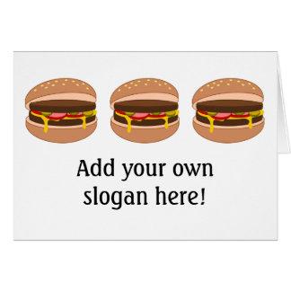このハンバーガーのグラフィックをカスタマイズ カード