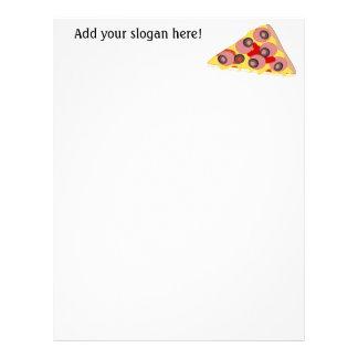 このピザ切れのグラフィックをカスタマイズ レターヘッド