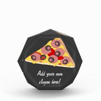 このピザ切れのグラフィックをカスタマイズ 表彰盾