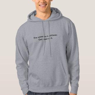 このフード付きスウェットシャツは哲学の声明をします パーカ