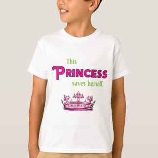 このプリンセスは彼女自身を救います Tシャツ